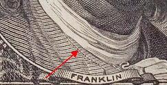 US dollar microprinting