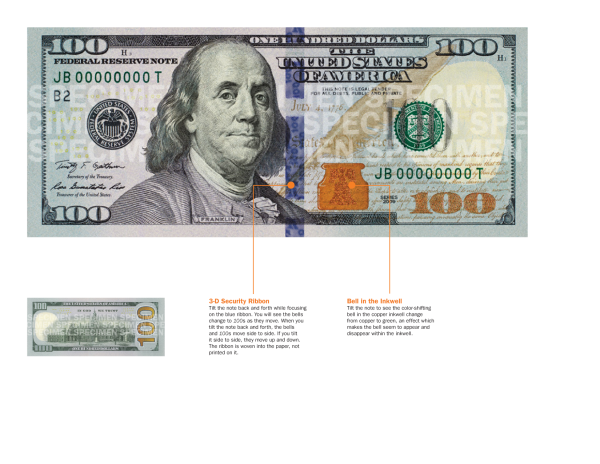 New counterfeit-resistant $100 bill