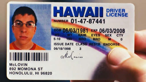McLovin License ID Superbad