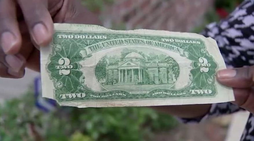 The real $2 bill that was mistaken for a counterfeit by police