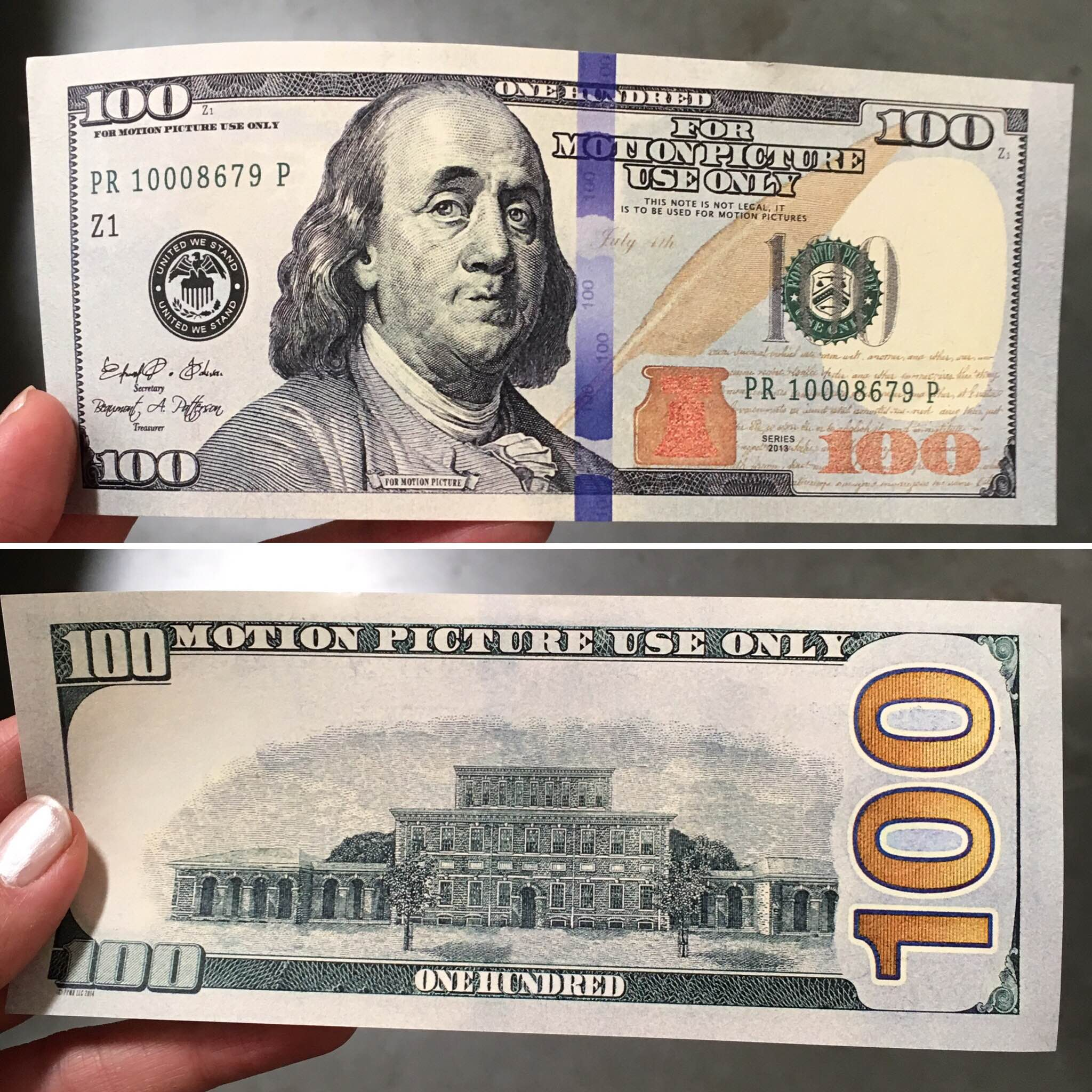 Fake money made for movies have been being used as real money all over the US