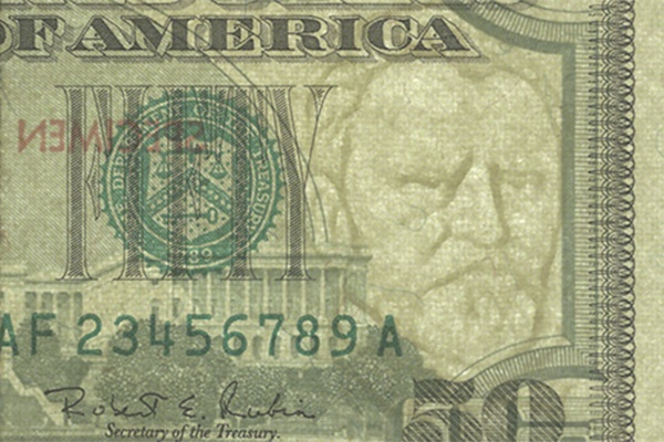 watermark on the 2008-present issue of the 5 dollar bill